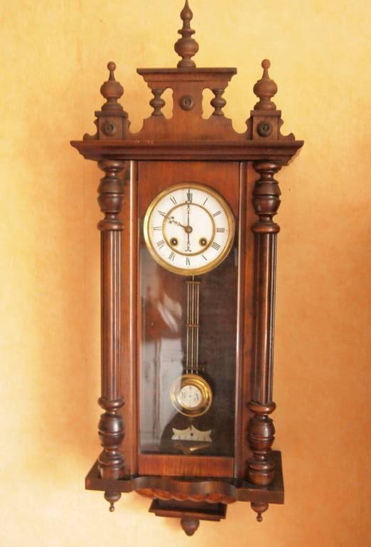 Антикварные густав беккер silesia немецкие настенные часы венский регулятор подержанный.
