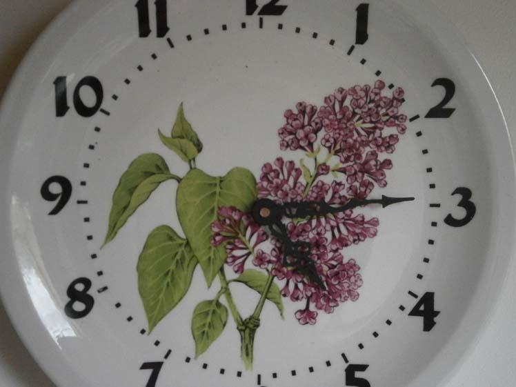 Роспись на тарелке цветы